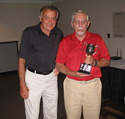 Bob Brady (right) presenting Ed O'Conor with the first place award for the 2015 Brady Cup competition