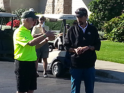 Bill Murray & Chad Hutsell with Tournament Instructions